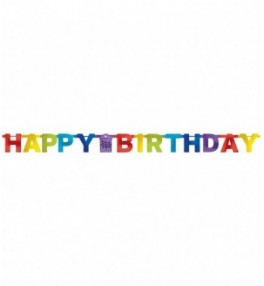 Banner Bright Birthday 220 cm