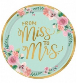 """Plates """"From Miss to Mrs"""""""
