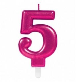 "Number Candle ""5"" Sparkling..."