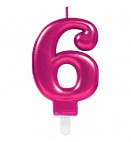 "Number Candle ""6"" Sparkling..."