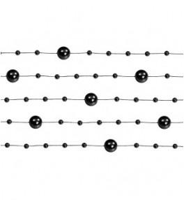 Kett pärlitega must, 1,3 m 5tk