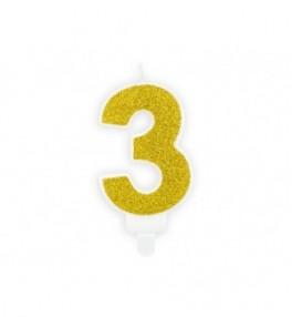Küünal 3 Birthday gold