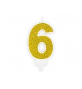 Küünal 6 Birthday gold