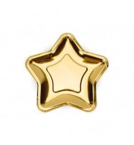 Taldrik 18cm Star kuldne,...