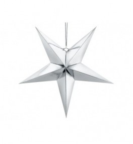 Paberist täht hõbe, 70cm