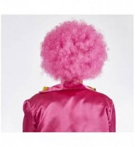 Klouni parukas roosa