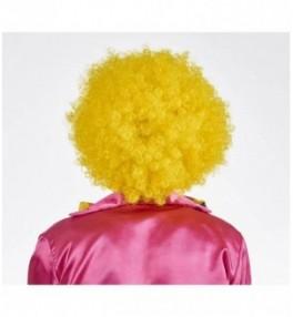 Klouni parukas kollane