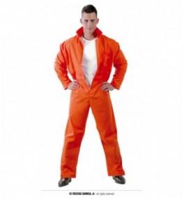 Kostuum Vangla oranz M 48/50