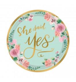"Plates ""She said Yes"""