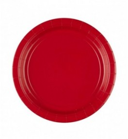 Taldrik 22,8 cm red, pakis...