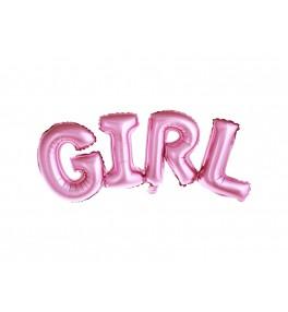 Tähed 'Girl, pink' 74 x 33 cm
