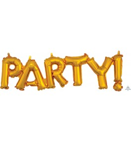 "Shape Phrase ""Party!"" gold..."