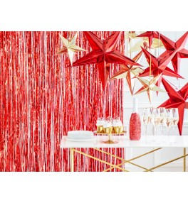 Party curtain, red, 0.9 * 2.5m