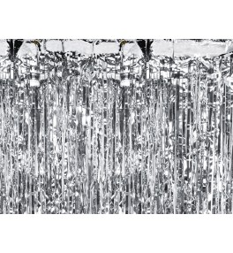 Party curtain, silver, 0.9...