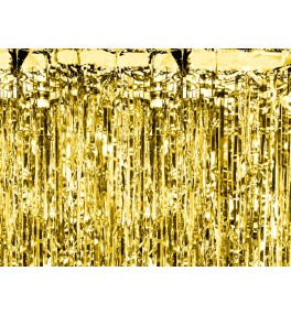 Party curtain, gold, 0.9 *...