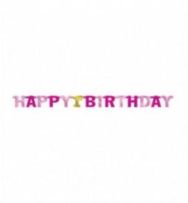 Banner 1st Birthday Pink 213cm
