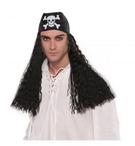 Parukas+bandana piraat