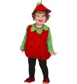 Lastekostüüm maasikas  1-3 a.