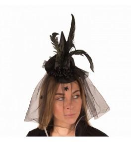 Minimüts looriga (must)