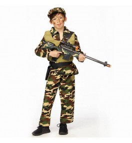 Kostüüm sõdur +müts (128 cm)