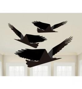 3 Paper Raven on String...