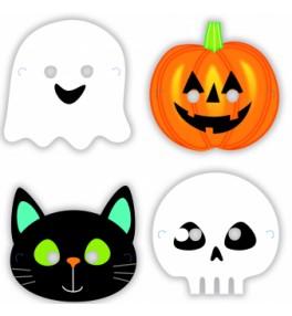 8 Masks Halloween Friends...