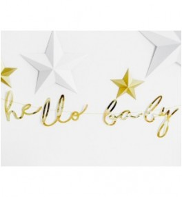 Banner Hello Baby, Gold...